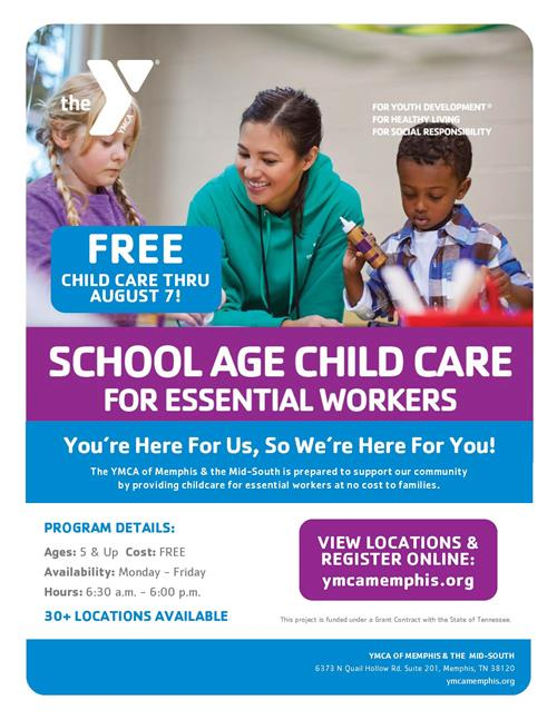 If you are an essential employee and need childcare, please see the attached flyer
