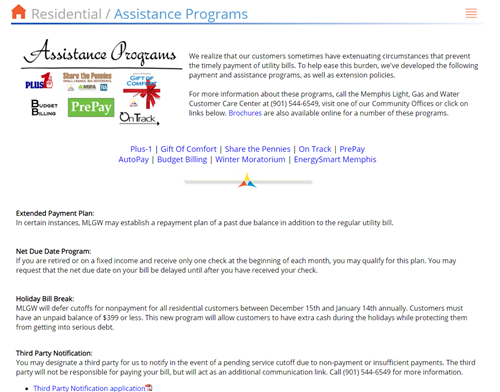 Residential Assistance Program