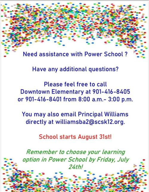 Power School Assistance