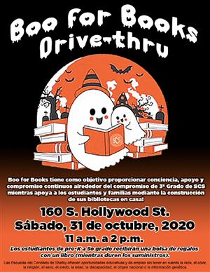 Boo for Books Spanish Flyer