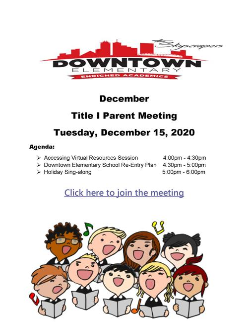 December Title 1 Meeting