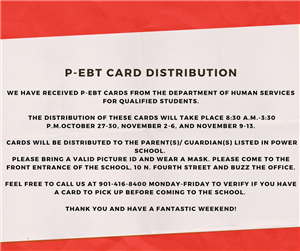 P-EBT Card Distribution