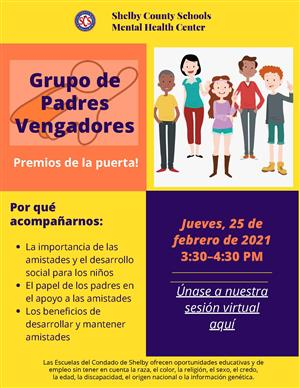 Parent Avenger Group Spanish