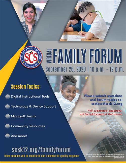 September Virtual Family Forum