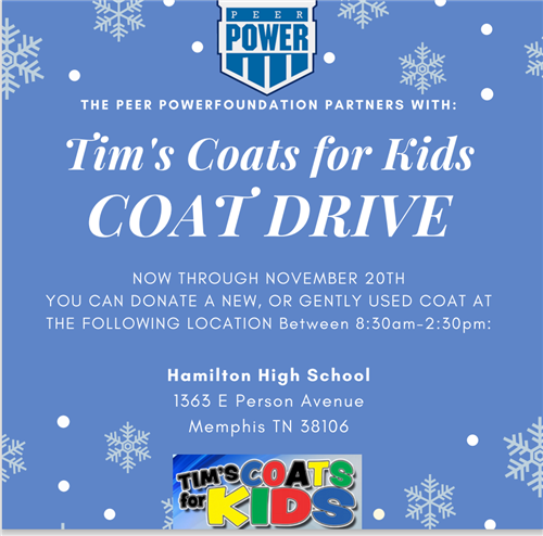 Tim's Coats For Kids Drive