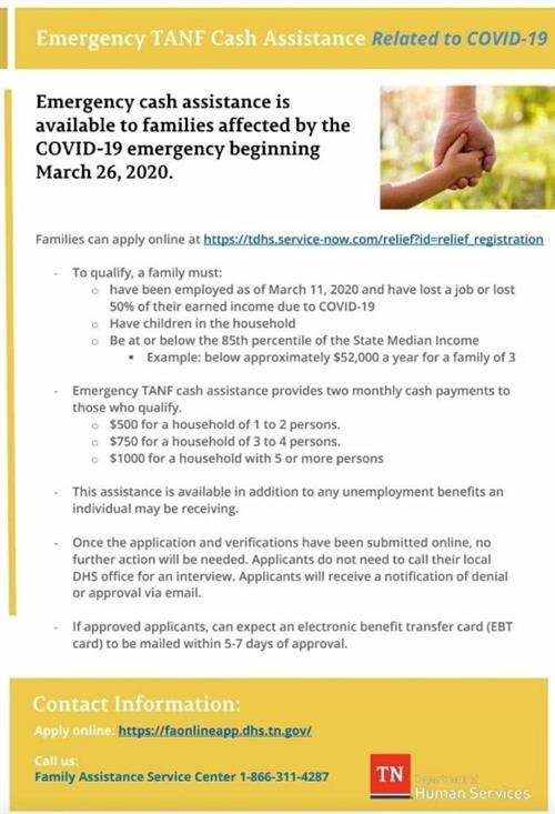 Emergency Cash Assistance