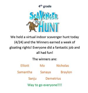 4th scavenger winners
