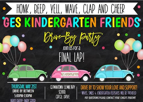 Kindergarten Drive-By Party
