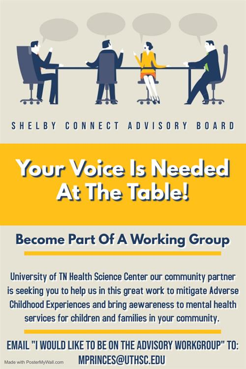 Join the Shelby Connect Advisory Board