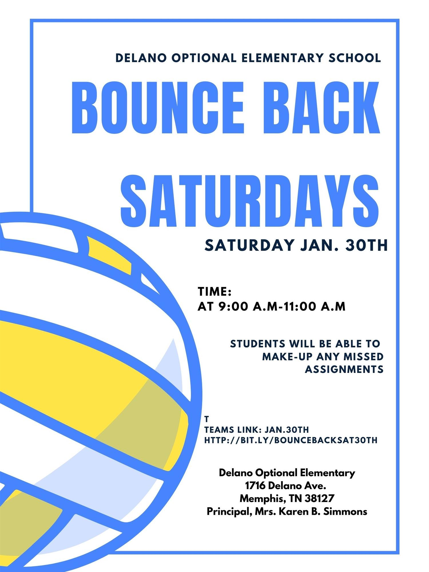 Bounce Back Saturday