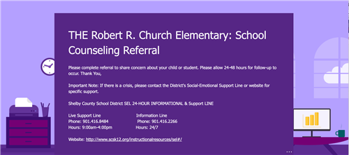 screenshot of rrc school counseling referral form