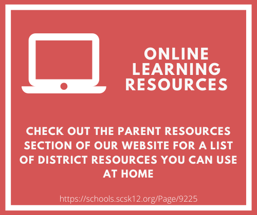 Check out the parent resources section of our website for a list of district resources you can use at home