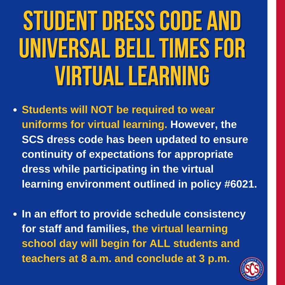 Student Dress Code and Bell Schedule