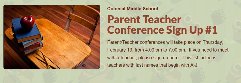 Parent Teacher Conference Sign Up #1