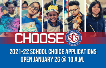 2021-22 School Choice Applications Open Jan. 26 at 10 a.m.