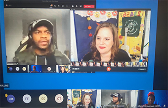 County Music Star Jimmie Allen Pays a Virtual Visit to Snowden Students