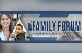 Our next Family Forum is February 27. Join Us for sessions on mental health awareness, supporting mental/behavioral challenges, trauma response strategies & more.