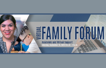 Live Sessions & Resources for Virtual Instruction during Family Forum Sept. 26 , 10am - 12pm