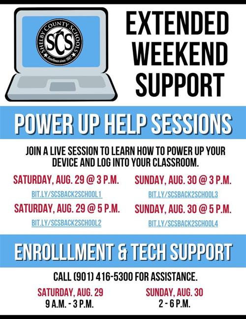 Parents the district is providing extra support for you this weekend!Tune in!