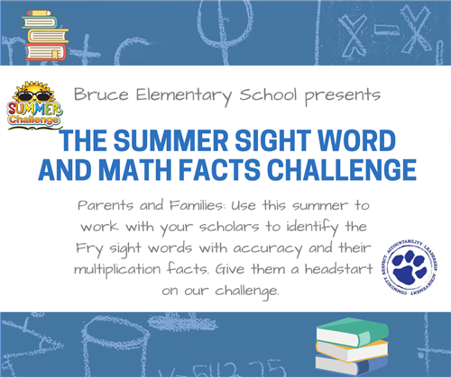 Bruce's Sight Word and Math Facts Challenge
