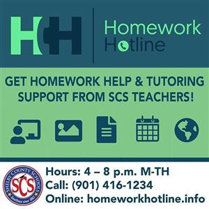 homework hotline infographic