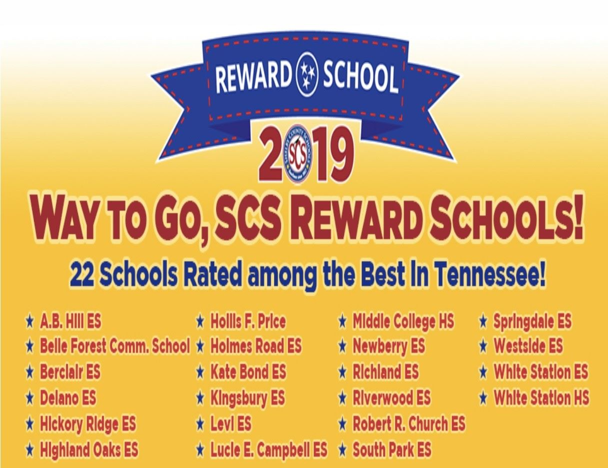 We are a REWARD SCHOOL!