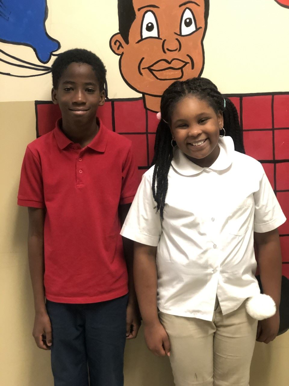 January's Students of The Month- Isaiah Hardin & Kennadi Flowers