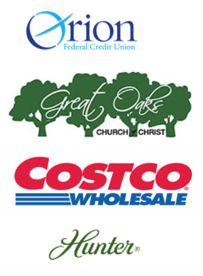 Our Adopters are: Orion Credit Union, Great Oaks Church of Christ, Costco Wholesale, and Hunter