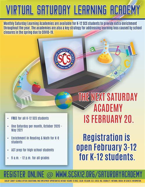 Virtual Saturday Learning Academy