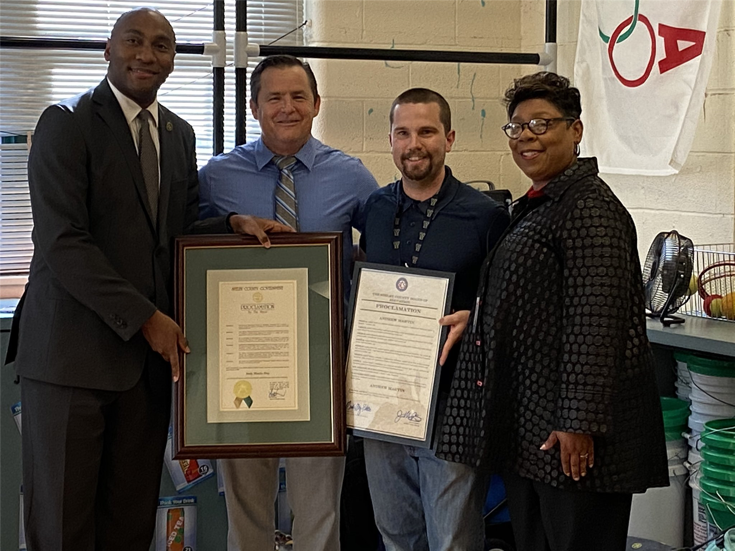 Grahamwood PE Teacher Honored by Mayor Harris